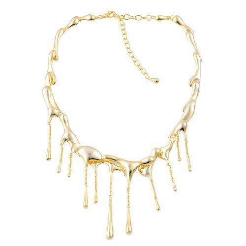 LucyQ Multi Drip Necklace (Size 16.5 with 3.5 inch Extender) in Yellow Gold Overlay Sterling Silver 84.76 Gms.