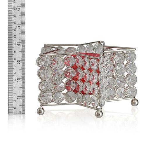 Home Decor - Austrian Crystal Star Shaped T Light Holder with LED T Light