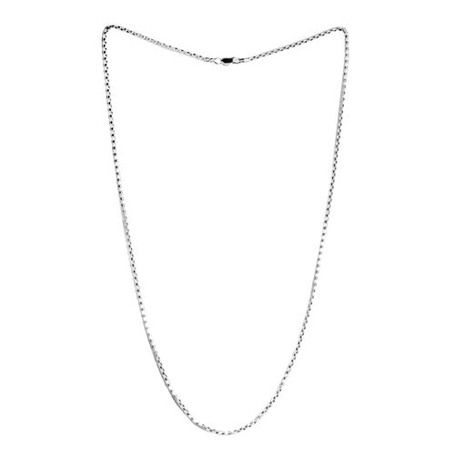 Sterling Silver Diamond Cut Popcorn Chain (Size 24). Silver wt. 6.30 Gms.