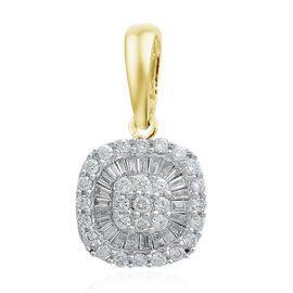 ILIANA 18K Yellow Gold IGI Certified Diamond (Rnd) (SI/G-H) Pendant 0.500 Ct.