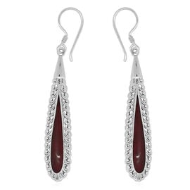 Royal Bali Collection Sponge Coral Hook Earrings in Sterling Silver 8.000 Ct.
