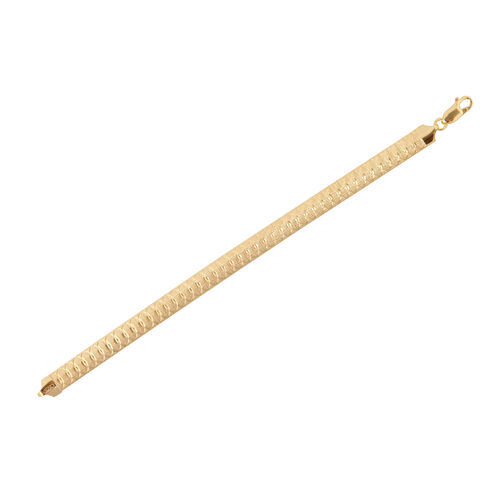 14K Gold Overlay Sterling Silver Bracelet (Size 7.5), Silver wt 13.90 Gms.