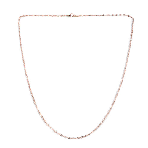 JCK Vegas Collection Rose Gold Overlay Sterling Silver Mariner Chain (Size 24)