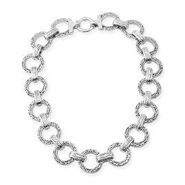 Designer Inspired-Sterling Silver Necklace (Size 20), Silver wt 67.00 Gms.