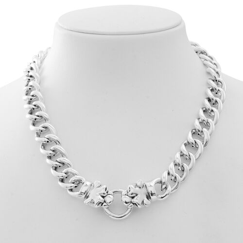 Limited Available-JCK Vegas Collection Sterling Silver Curb Necklace (Size 20), Silver wt. 75.00 Gms.