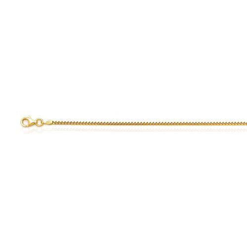 Vicenza Collection 14K Gold Overlay Sterling Silver Cuban Chain (Size 20), Silver wt 5.53 Gms.