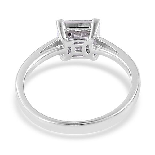 ILIANA 18K White Gold IGI Certified Diamond (Sqr) ( G-H) Ring 0.500 Ct.