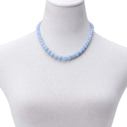 Espirito Santo Aquamarine Necklace (Size 18) in Sterling Silver 172.000 Ct.