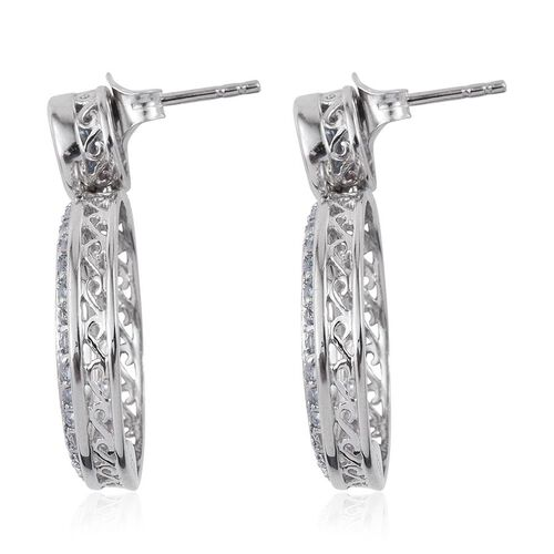 Kimberley Espirito Santo Aquamarine (Rnd) Earrings (with Push Back) in Platinum Overlay Sterling Silver 1.750 Ct.