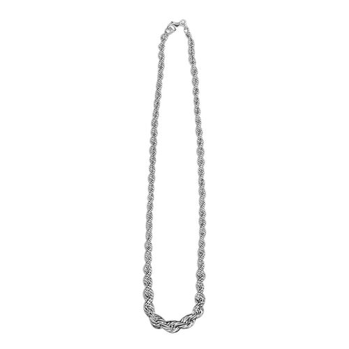 Italian Made Rope Necklace (Size 18 with 2 inch Extender), Silver wt 17.83 Gms.