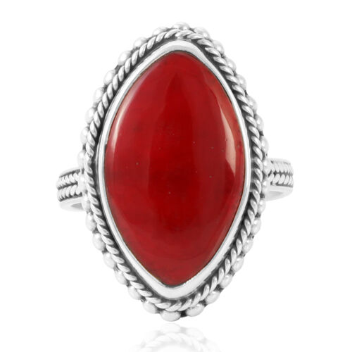 Sponge Coral (15.80 Ct) Sterling Silver Ring  15.800  Ct.