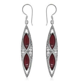Royal Bali Collection Sponge Coral Hook Earrings in Sterling Silver 12.000 Ct. Silver wt 5.00 Gms.