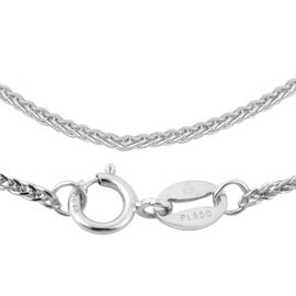 JCK Vegas Collection RHAPSODY 950 Platinum Spiga Necklace (Size 20), Platinum wt. 4.30 Gms.