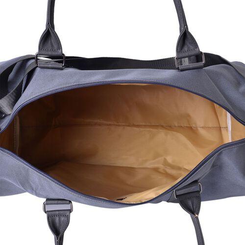 Cashmere Grey Unisex Large Travel Bag with Adjustable Shoulder Strap (Size 46X30X22 Cm)