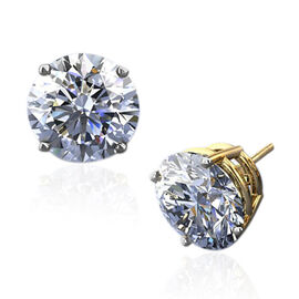 New York Close Out  - 14K Yellow Gold AGI Certified Diamond (I1/ G-H) (Rnd) Stud Earrings (with Screw Back) 1.000 Ct.