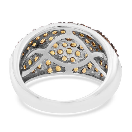 Limited Edition - AAA Chanthaburi Yellow Sapphire (Rnd) Ring in Rhodium Plated Sterling Silver 4.750 Ct.