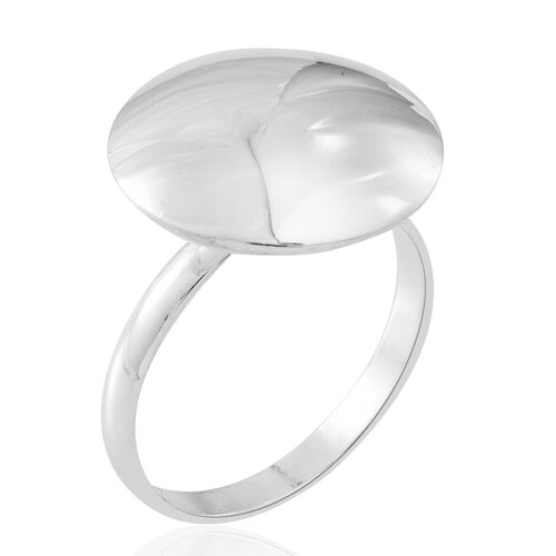 Vicenza Collection- Designer Inspired Sterling Silver Globe Ring , Silver wt 4.01 Gms.