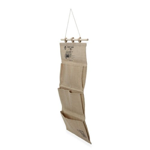 Set of 2 - Linen Hanging Storage