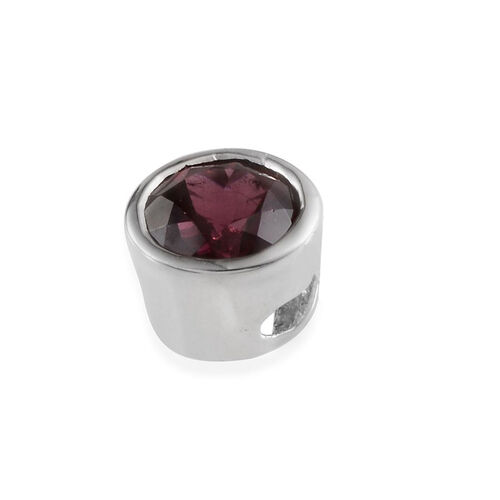 Rhodolite Garnet (Rnd) Solitaire Pendant in Platinum Overlay Sterling Silver 1.500 Ct.