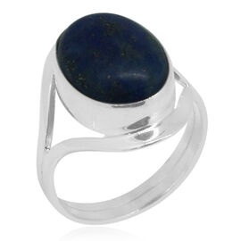 Royal Bali Collection Lapis Lazuli (Ovl) Ring in Sterling Silver 10.090 Ct.