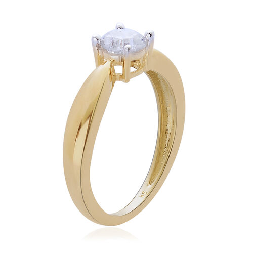 9K Y Gold SGL Certified Diamond (Rnd) (I3/ G-H) Solitaire Ring 0.500 Ct.