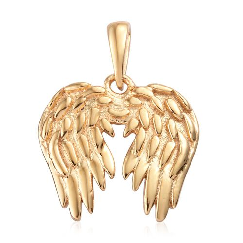 Angel Wing Pendant in Yellow Gold Plaed 925 Sterling Silver