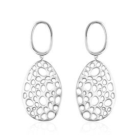 RACHEL GALLEY Rhodium Plated Sterling Silver Lattice Earrings, Silver wt 16.89 Gms.
