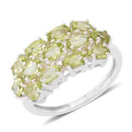 Hebei Peridot (Ovl) Ring in Sterling Silver 3.250 Ct. Silver wt 4.00 Gms.