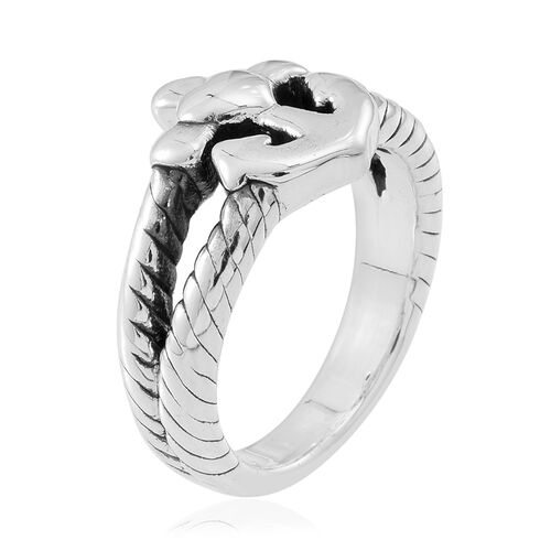 Statement Collection Sterling Silver Anchor Ring, Silver wt 4.48 Gms.