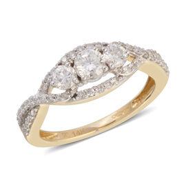 NY Close Out 14K Yellow Gold Diamond (Rnd) (I1-I2/G-H) Ring  0.900 Ct.Size N