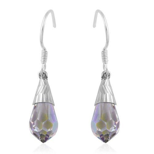 J Francis Crystal from Swarovski - AB Crystal Drop Hook Earrings in Sterling Silver