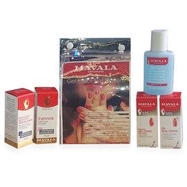 MAVALA - Gel effect nail system- Mavala Base 002 10ml,Thinner 10ml, Gel  Finish Top Coat 10ml,Oil Seal Dryer 10ml and Nail Polish Remover 50ml