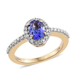 ILIANA 18K Yellow Gold 1.15 Ct AAA Tanzanite, Diamond (SI/G-H) Ring
