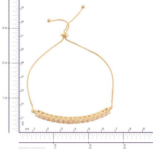 Ethiopian Welo Opal (Rnd) Adjustable Bracelet (Size 6.5 to 8.5) in 14K Gold Overlay Sterling Silver 1.500 Ct.