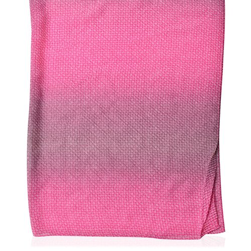 Designer Inspired-Pink and Purple Colour Scarf (Size 155X88 Cm)
