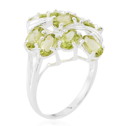 Hebei Peridot (Ovl) Ring in Sterling Silver 4.500 Ct.