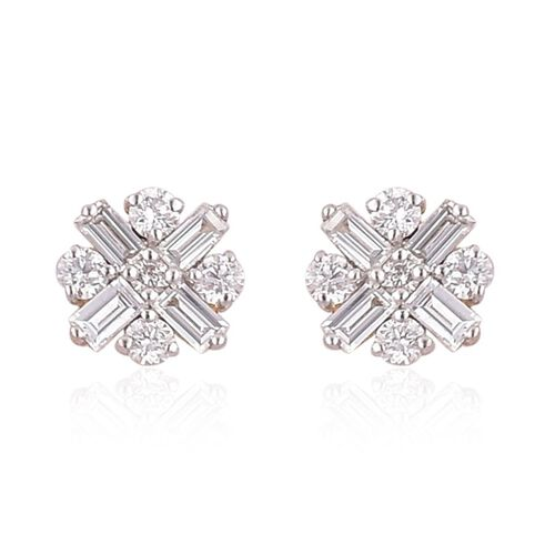 One Off ILIANA 18K Yellow Gold 0.50 Carat Diamond Stud Earrings SI/G-H IGI Certified