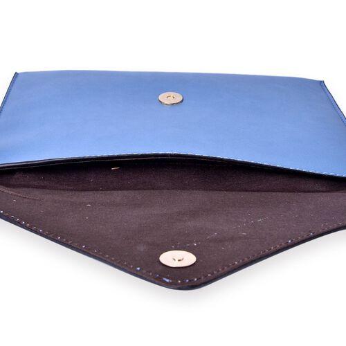 New Season YUAN COLLECTION Sky Blue Envelope Clutch/ Travel Pouch (Size 25.5x17 Cm)