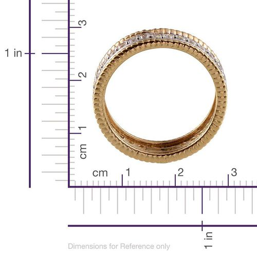 AAA Simulated Diamond (Rnd) Full Eternity Band Ring in 14K Gold Overlay Sterling Silver