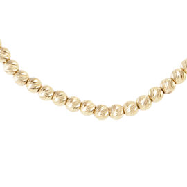 Limited Edition - 9K Y Gold Round Bead Necklace (Size 18), Gold Wt 10.40 Gms.