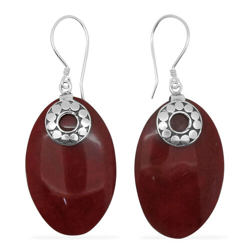 Royal Bali Collection Coral Hook Earrings in Sterling Silver 18.000 Ct.