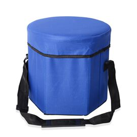 Foldable Multi-Function Cooler Stool - Blue (Size 30x30x30Cm)