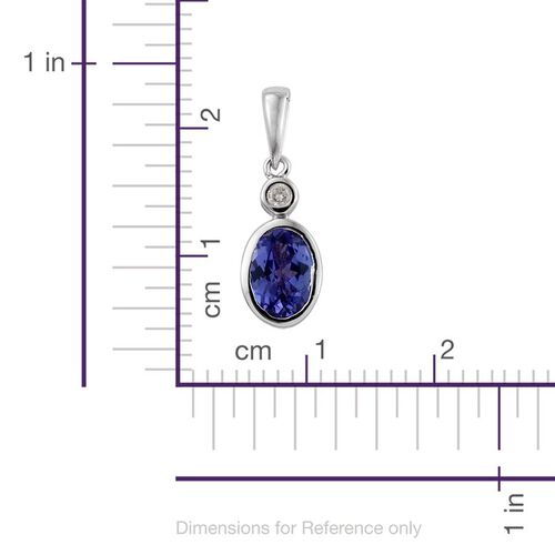 14K W Gold Tanzanite (Ovl), Diamond Pendant 1.000 Ct.