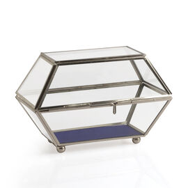 Vintage Glass Jewellery and Display Box (Size 20x14x13 Cm)