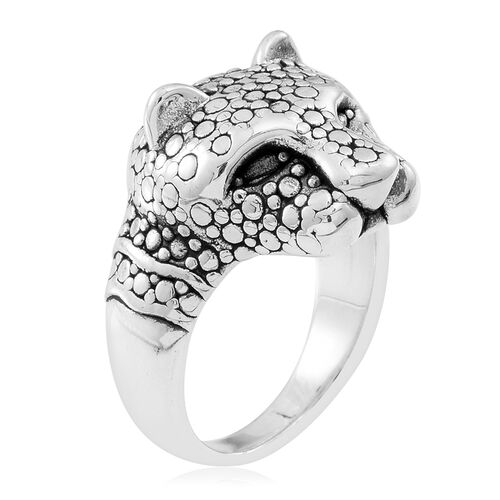 Statement Collection Designer Inspired Sterling Silver Cartier Ring Silver Wt 5.50 Grams