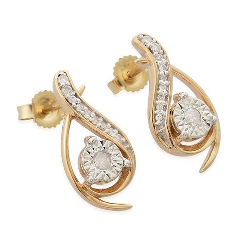 0.25 Carat Diamond Pendant and Earrings Set in 9K Gold SGL Certified (I3/G-H)