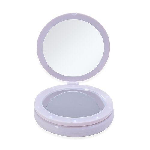 White Colour Cosmetic LED Mirror (Size 35x16.8x13 Cm) 5 x mag.