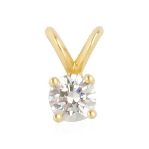 ILIANA 18K Yellow Gold AGI Certified Brilliant Cut Diamond (SI/ G-H) Pendant 0.330 Ct.