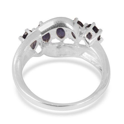 Iolite (Ovl) 5 Stone Ring in Sterling Silver 1.000 Ct.