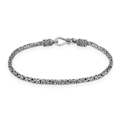 Royal Bali Collection Sterling Silver Borobudur Bracelet (Size 8), Silver wt. 10.37 Gms.